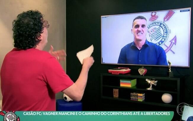Casagrande pede desculpas a Mancini por ter criticado contratação do técnico