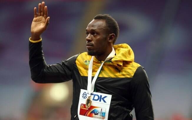 A terça-feira foi o dia de Usain Bolt receber  a medalha de ouro pelo título mundial dos 100 m  rasos