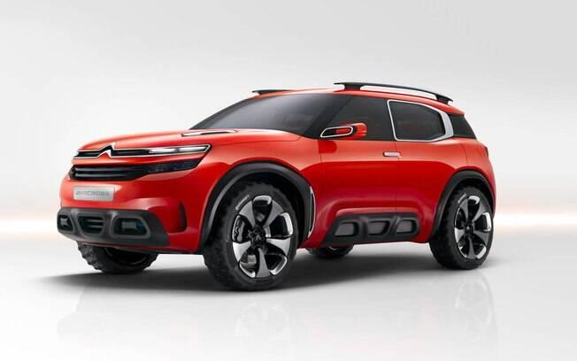 O Citroën Concept Aircross funciona como um estudo de outras aplicações do design que estreou no C4 Cactus.