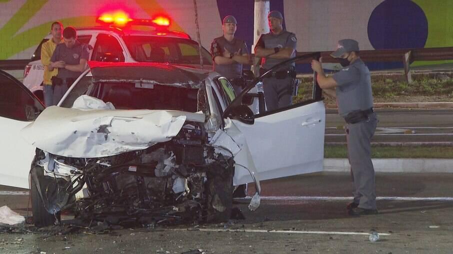 PM foi vítima de um acidente de carro em SP