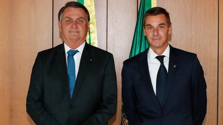 Bolsonaro e André Brandão, presidente do Banco do Brasil
