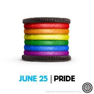 Campanha da bolacha Oreo em homenagem ao Orgulho Gay