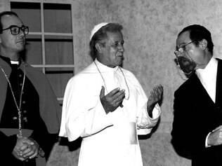 O fundador do CPT, Ronaldo Boschi, (à direita) em ação