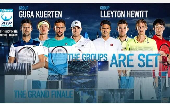 Gustavo Kuerten dá nome a um dos grupos do ATP Finals de Londres