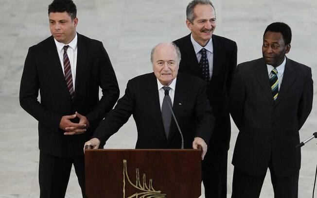 Ronaldo também esteve presente na reunião