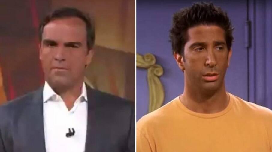 Tadeu Schimdt foi comparado a Ross de Friends por causa do bronzeado