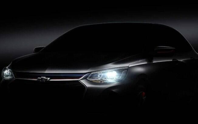 Teaser do Chevrolet Prisma mostra os novos faróis, com lustres menores e design mais elegante