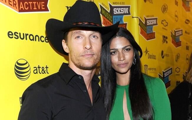 Matthew McConaughey e Camila Alves em Austin no último final de semana