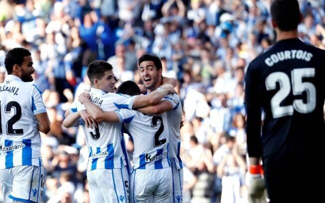 Real Sociedad venceu o Real Madrid por 3 a 1