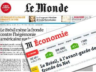 Manchetes do Le Monde nas versões impressa e digital destacam posição brasileira de vanguarda