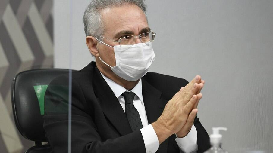 Relator da CPI da Covid-19 senador Renan Calheiros (MDB-AL)