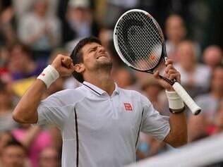 Djokovic celebra vitória épica sobre Del Potro na semifinal