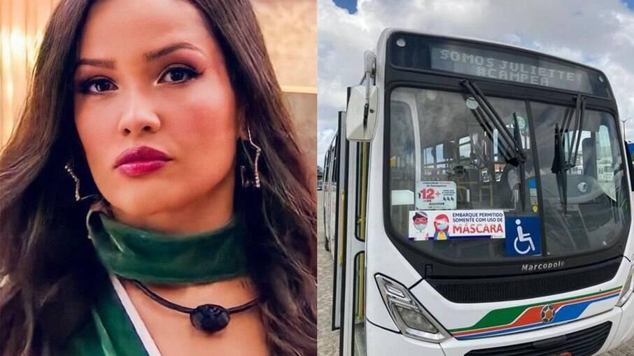 Juliette é homenageada por ônibus em João Pessoa