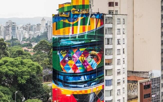 Mural A Lenda do Brasil