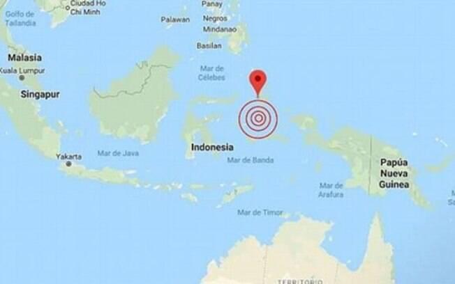 Indonésia registra terremoto de magnitude 7.1 na escala Richter