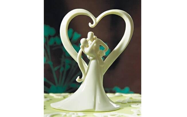 Este, romântico, é feito de porcelana. Também da The Cake Top