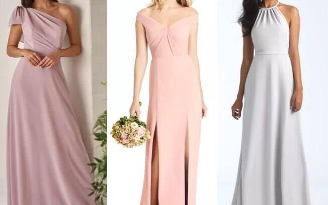 Ao mesmo tempo que os vestidos que mostram os ombros são elegantes, também são modelos sensuais e ajudam a modelar o corpo