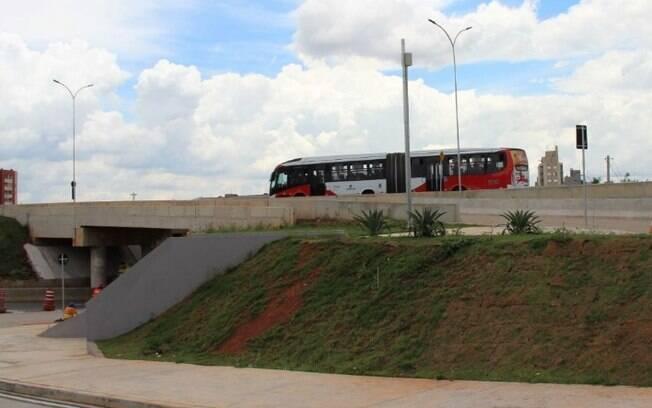 BRT Campo Grande: obras em viadutos alteram itinerários de ônibus em Campinas