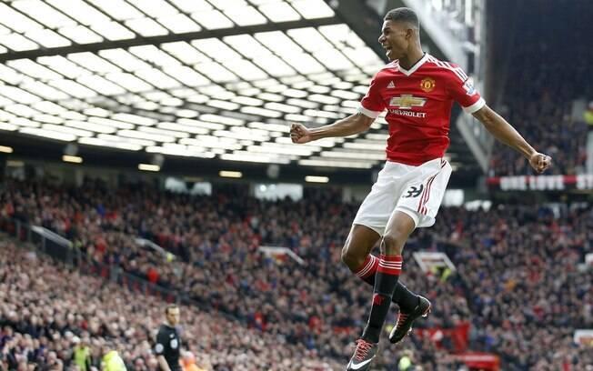 Marcus Rashford foi o destaque da vitória do Manchester United