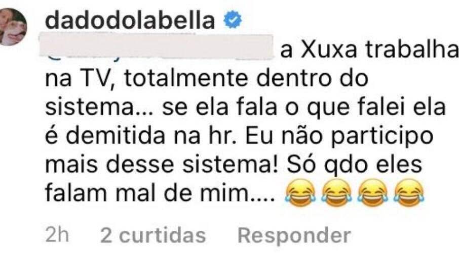 Dado ataca Xuxa