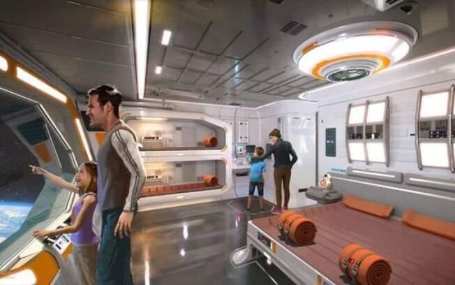 Os quartos do novo estabelecimento de hotéis na Disney será em formato de foguete