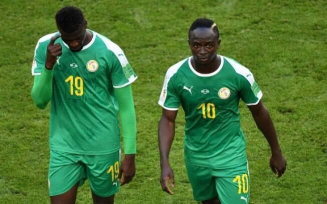 A seleção de Senegal foi uma das africanas que decepcionou na Copa do Mundo