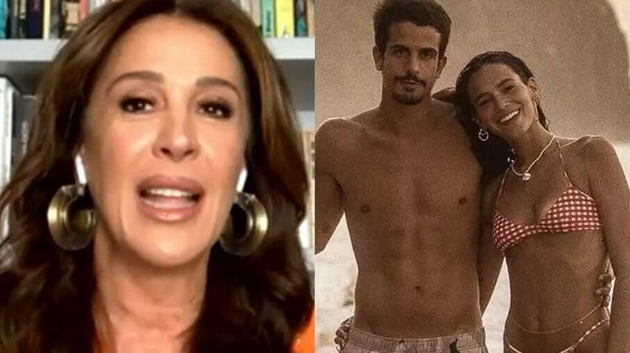 Claudia Raia comenta namoro de Enzo Celulari e Bruna Marquezine