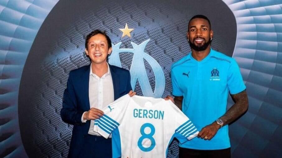Gerson é apresentado como reforço do Olympique Marseille
