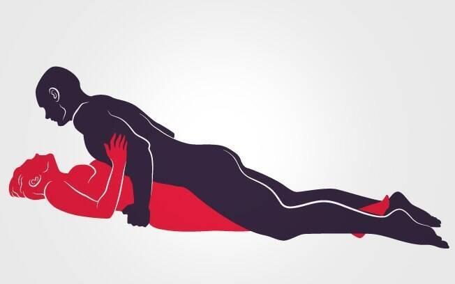 2. POUSO RELAXADO: ela deita com as pernas fechadas, ele vem por cima e massageia o pênis roçando no corpo dela