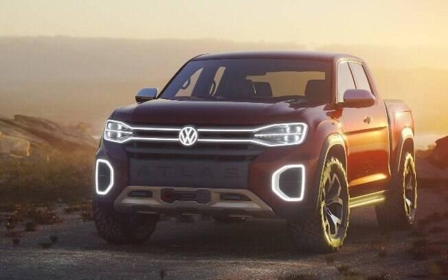 A Atlas Tanoak, a nova picape da VW, terá muita tecnologia e fará sua estreia em 2019