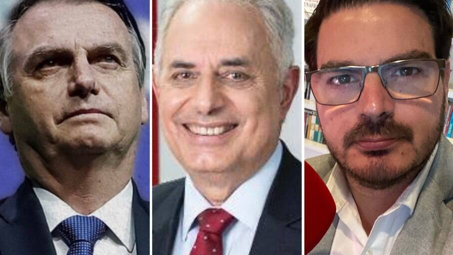 Jair Bolsonaro, William Waack e Rodrigo Constantino