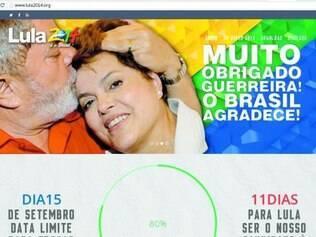 """Retorno. """"Sua missão foi cumprida com louvor. Mas o momento conclama por Lula"""", diz site a Dilma"""