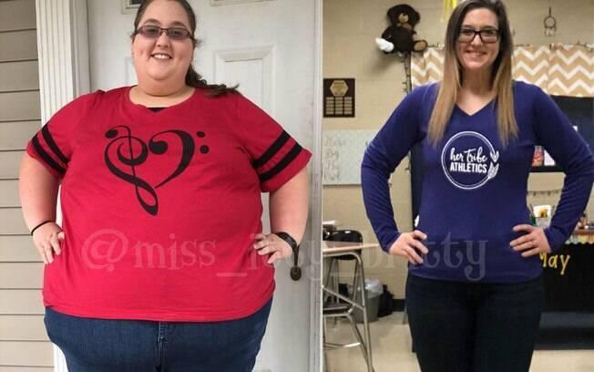 Em um intervalo de dois anos. Brittany May perdeu 152 kg e explica o que ela faz para mudar sua rotina e ficar mais saudável