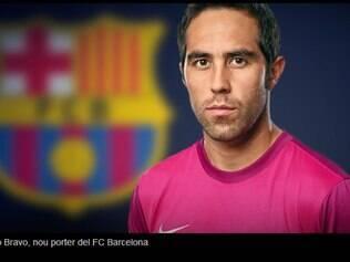 Claudio Bravo, 31,  chega ao Barcelona após defender o Real Sociedad por oito temporadas