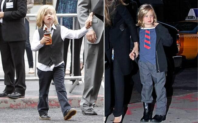 Shiloh: a filha de Angelina Jolie e Brad Pitt prefere roupas de menino