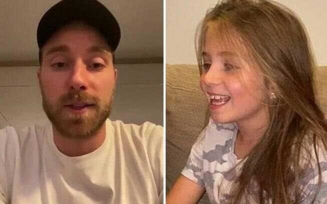 Eriksen manda vídeo emocionante para menina que fará cirurgia cardíaca