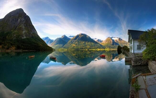 Noruega encanta com paisagens naturais deslumbrantes