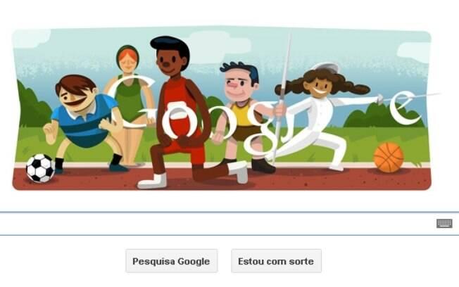 Logotipo do Google presta homenagem aos Jogos Olímpicos