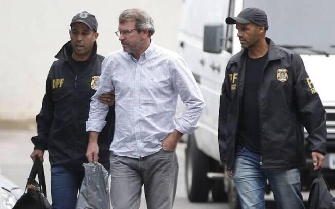 Eduardo Plass foi preso na semana passada, mas solto hoje, após pagar fiança milionária para deixar a cadeia