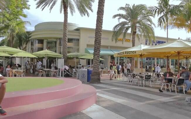 Lincoln Road, a principal rua de compras de Miami Beach