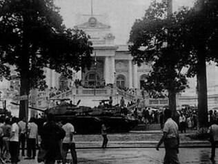 Chegada. No dia seguinte ao golpe militar, as tropas e tanques que saíram de Minas Gerais chegaram ao Rio de Janeiro