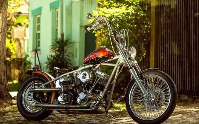 Harley-Davidson Bobber foi personalizada e ganhou estilo único, com aspecto retrô, inspirado nos modelos da década de 60