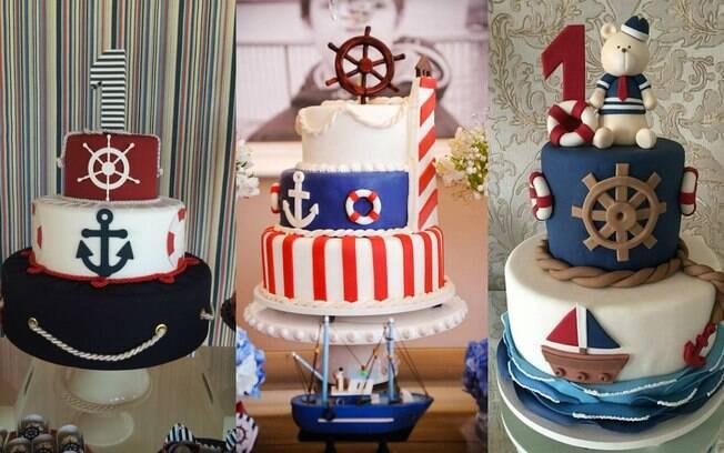 Na hora de encomendar um bolo de marinheiro com pasta americana, é preciso pensar bem no profissioanl