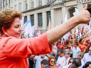Dilma Rousseff participa caminhada em Santos. Santos - SP, 30/09/2014