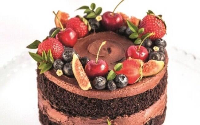 Bolo de chocolate combina com qualquer ocasião, até com a ceia de final de ano