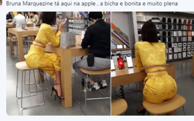 Bruna Marquezine é fotografada por fã sem saber e responde publicação feita no Twitter