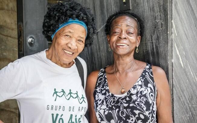 Maria Helena Pereira, 64, e Dira Santos, 70, responsáveis pelo mais lindo momento da reportagem
