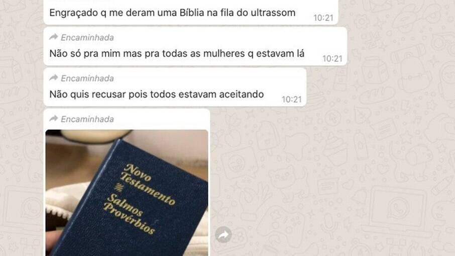 A bíblia foi dada por voluntários do hospital