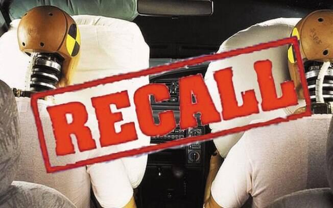 Airbags defeituosos da Takata elevaram a quantidade de recalls, afetando 1,7 milhão de veículos.