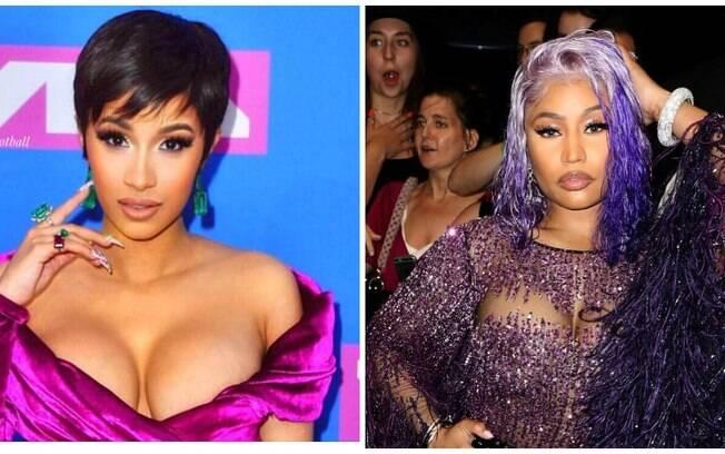 Cardi B ataca sapato em Nicki Minaj durante evento e desabafa no Instagram: